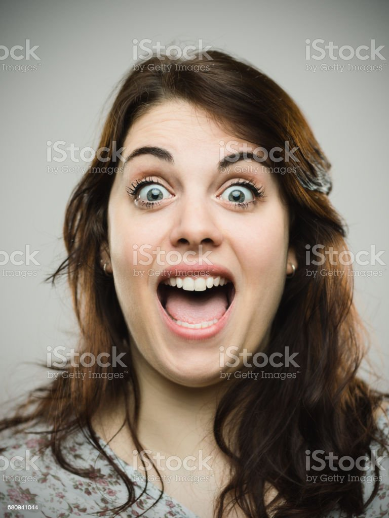 Girl open mouth