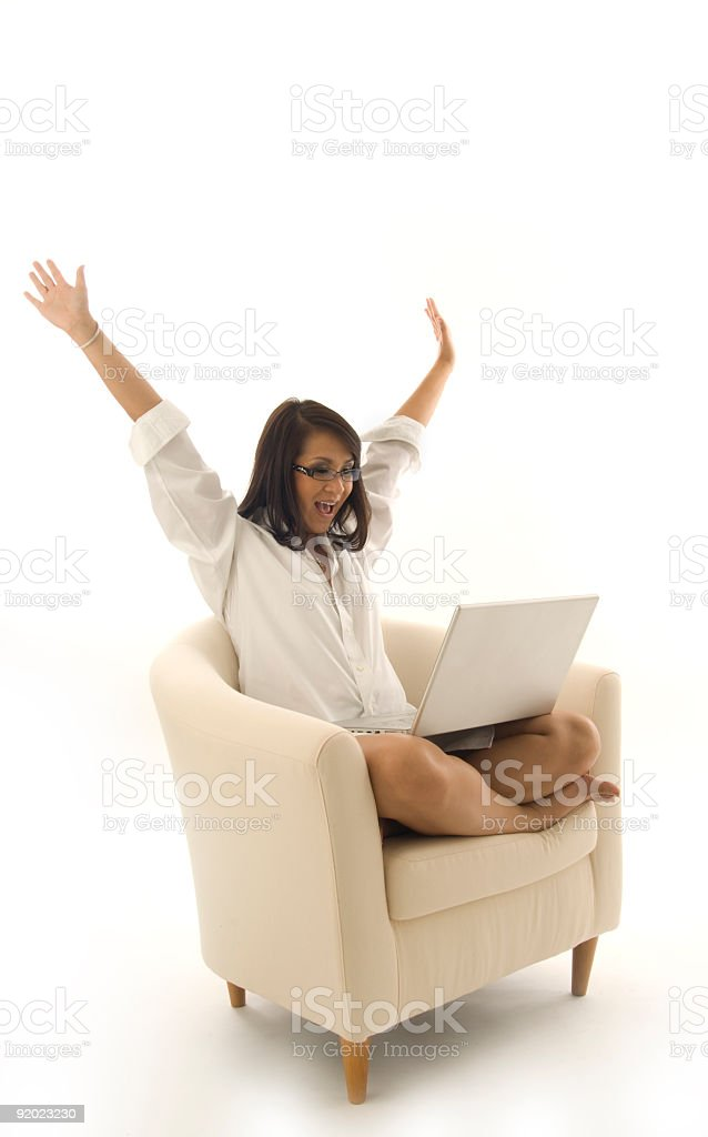 Excitement from Cyber Space royalty-free stock photo