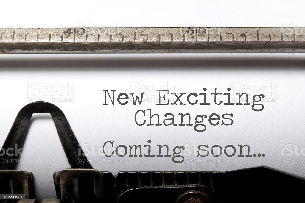 Exciting changes motivational saying stock photo