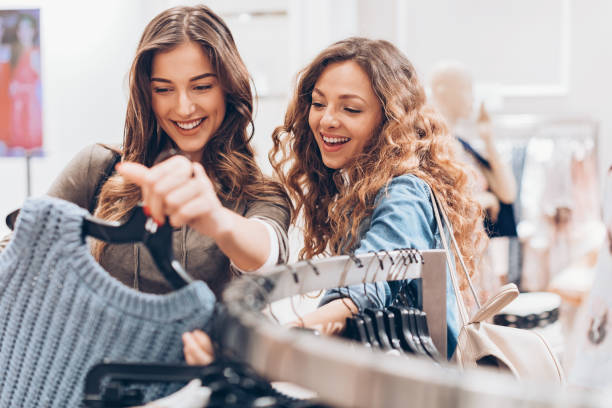 Exciting fashion finds stock photo