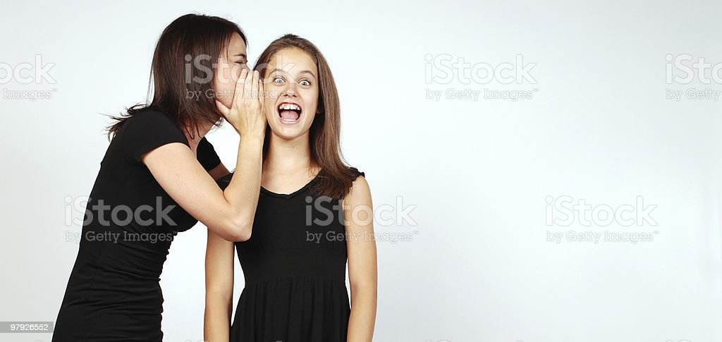 Exciting secret royalty-free stock photo