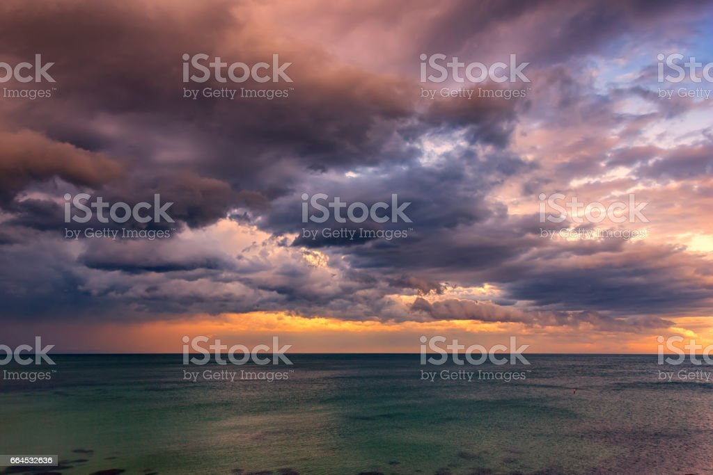 Exciting sunset stock photo