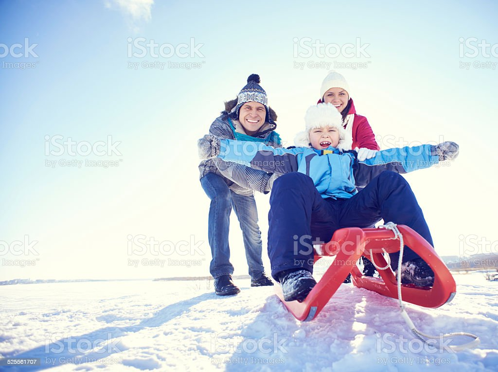 Exciting winter vacations stock photo