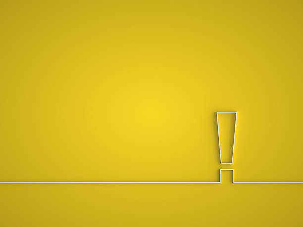 Exclamation mark icon. Exclamation mark icon. Attention sign icon. Hazard warning symbol in yellow background. impact stock pictures, royalty-free photos & images