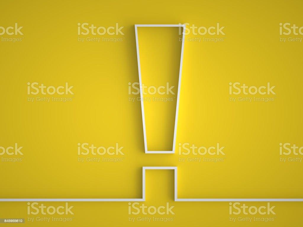 Exclamation mark icon. stock photo