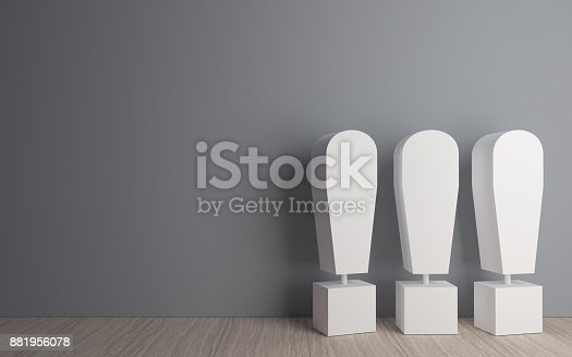 istock Exclamation mark in the room 881956078