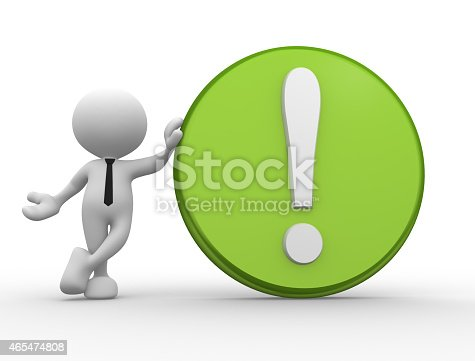istock Exclamation mark 465474808