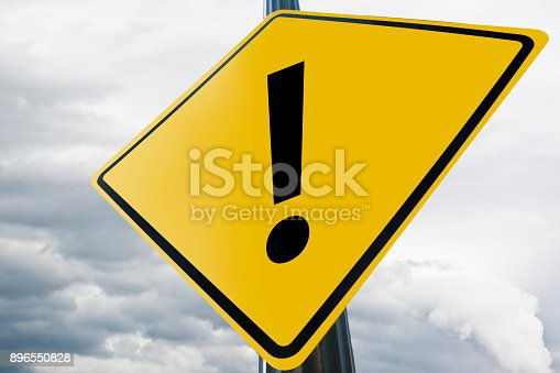 istock Exclamation mark / Road sign (Click for more) 896550828