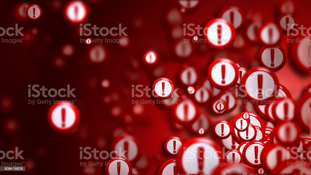 exclamation marks as a sign of the wrong choice stock photo