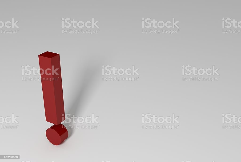 Exclamation royalty-free stock photo