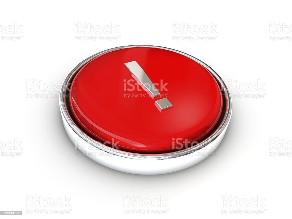 exclamation point button royalty-free stock photo