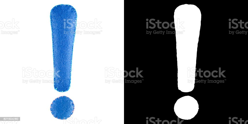 Exclamation point from felt Lizenzfreies stock-foto