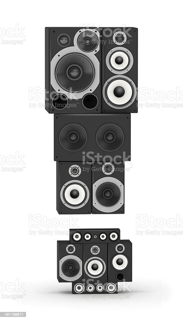 Exclamation point  from speaker stock photo