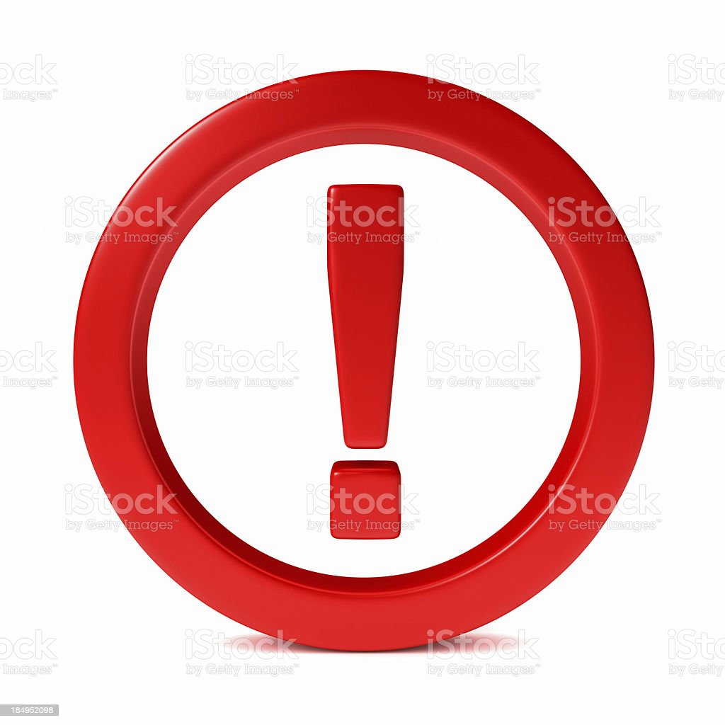 Exclamation Point Icon stock photo