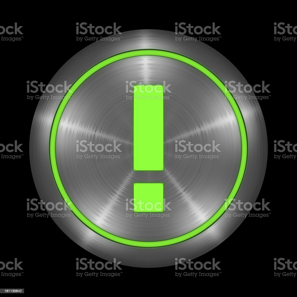 Exclamation Symbol Button stock photo