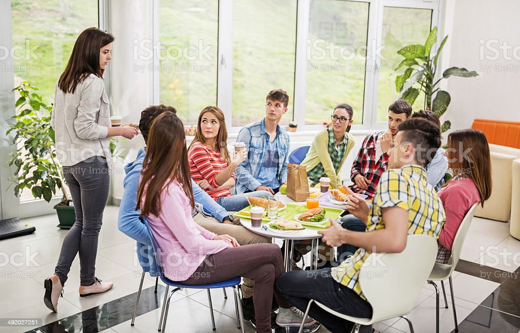 Exclusion in cafeteria. royalty-free stock photo