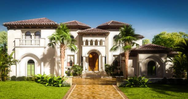 Exclusive Luxury Villa stock photo