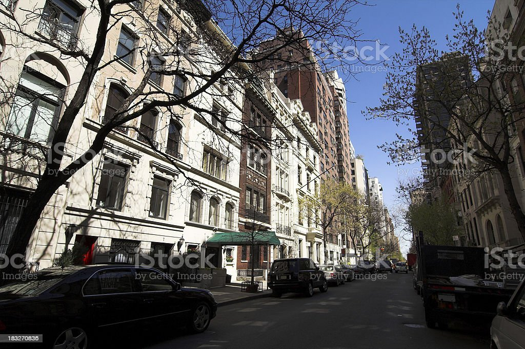 Exclusive Real Estate in Manhattan royalty-free stock photo