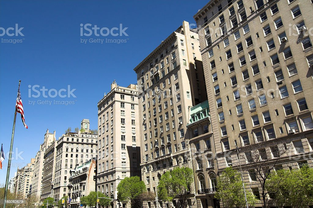 Exclusive Real Estate on Fifth Ave royalty-free stock photo