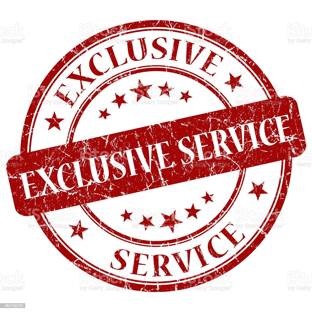 Exclusive Service Red Stamp stock photo
