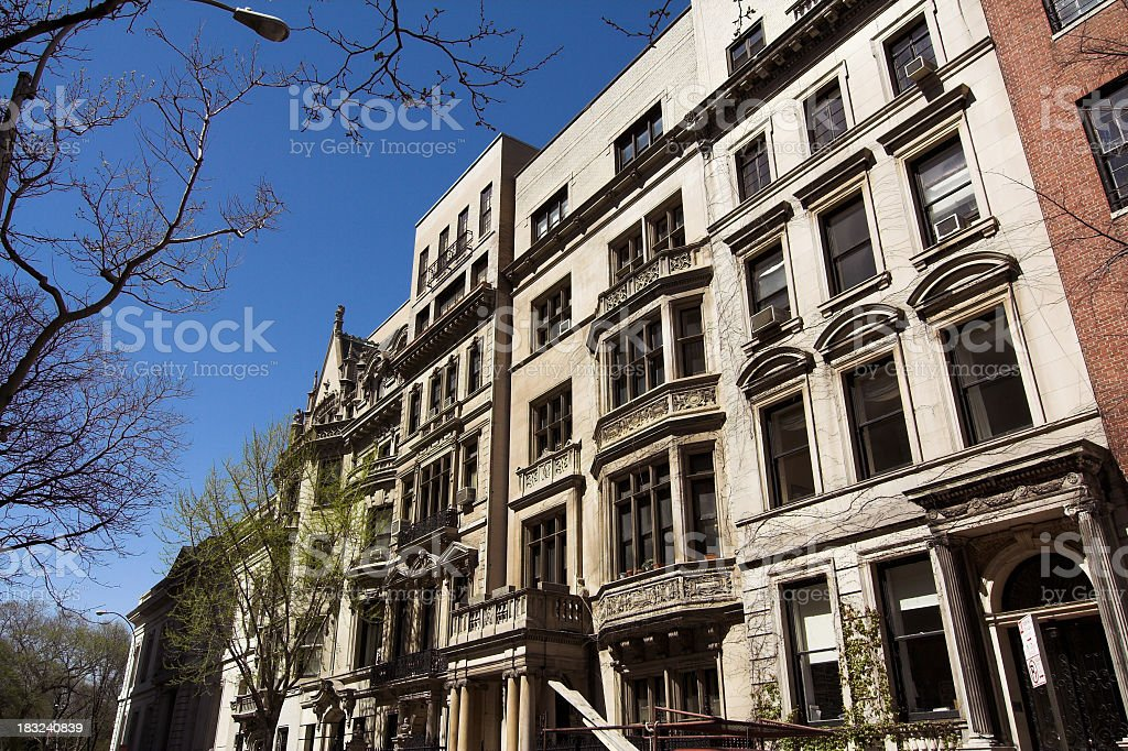 Exclusive Townhouses in Manhattan royalty-free stock photo