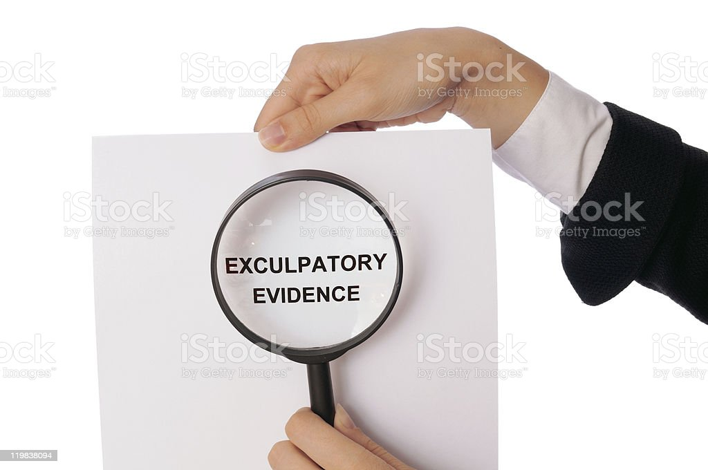 Exculpatory evidence royalty-free stock photo