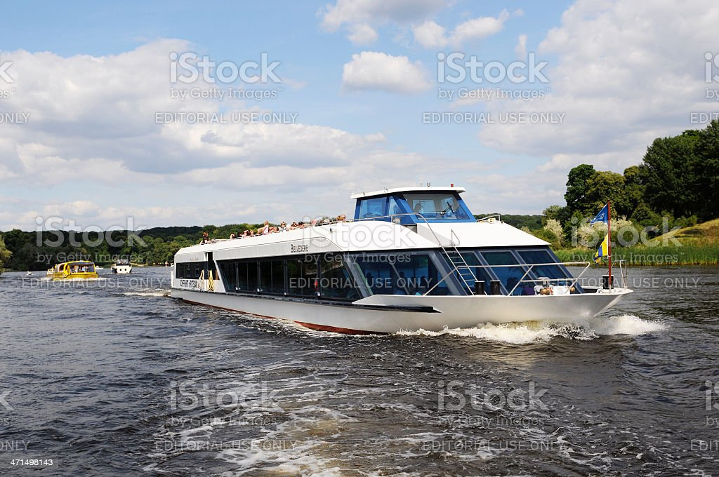 excursion steamer on Wannsee (Berlin - Germany) stock photo