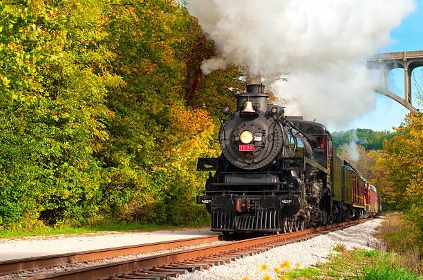 Excursion train stock photo