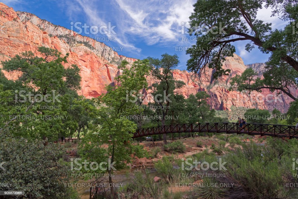 Excursions in the Zion Narrows National Park stock photo