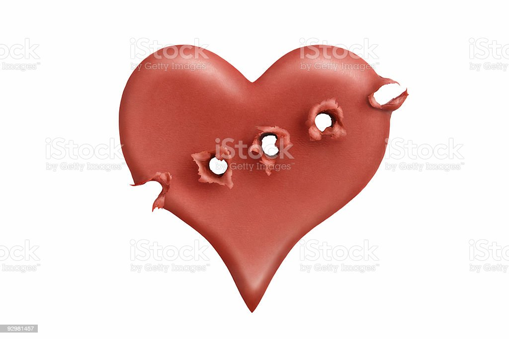 Executed heart stock photo