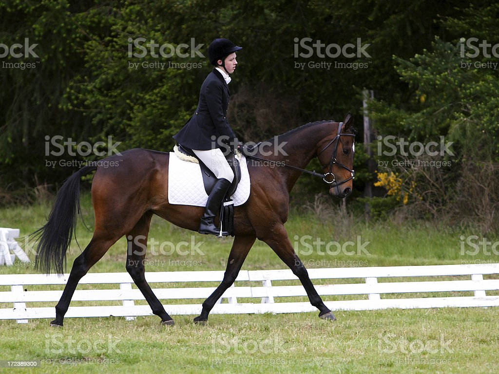 Executing the Trot stock photo
