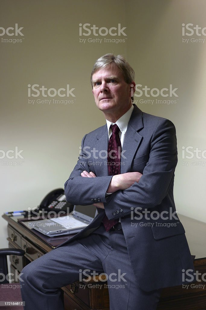 Executive, Arms Crossed royalty-free stock photo
