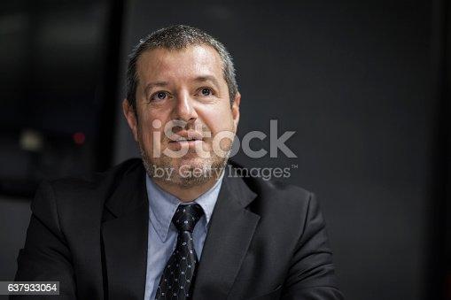 637940820 istock photo Executive businessman in meeting 637933054