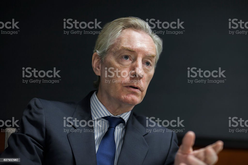 Executive businessman talking in meeting – Foto
