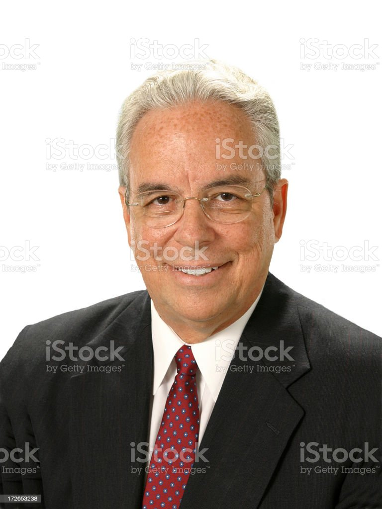 Executive Businessman with Isolated White Background stock photo
