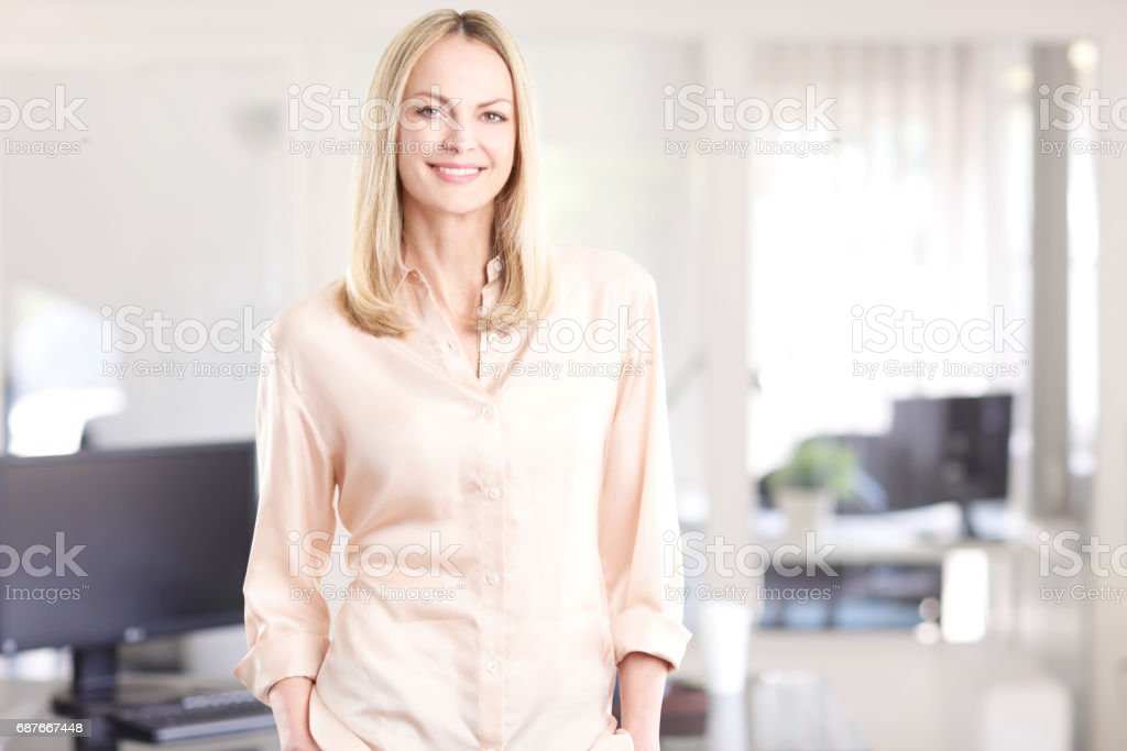 Executive businesswoman portrait stock photo