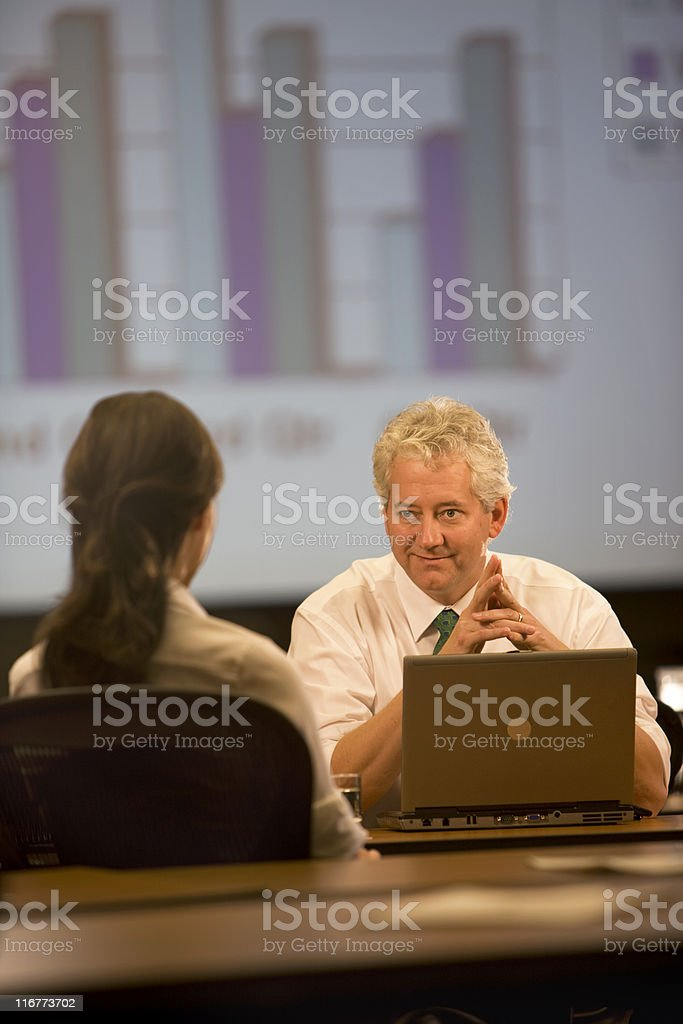 Executive Conducting A Meeting royalty-free stock photo