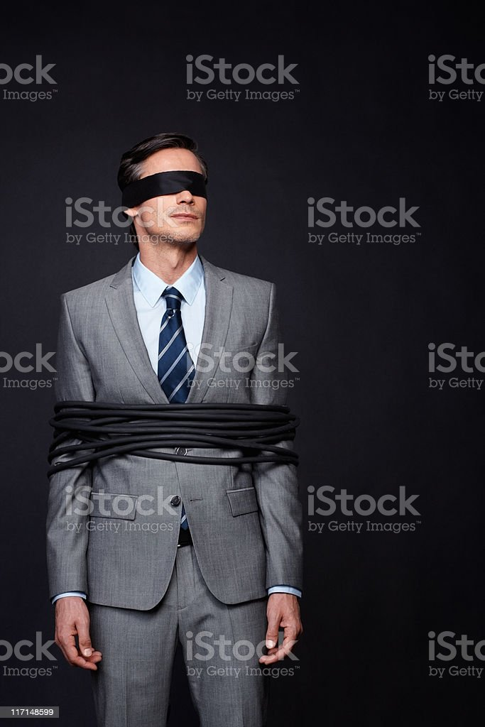 Executive controlled by corporate royalty-free stock photo