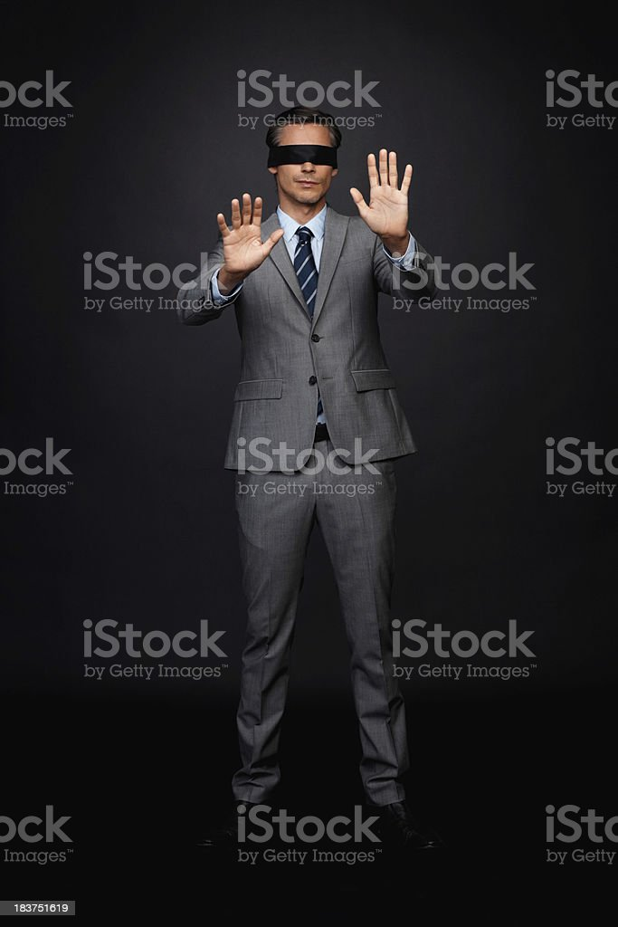 Executive feeling lost royalty-free stock photo