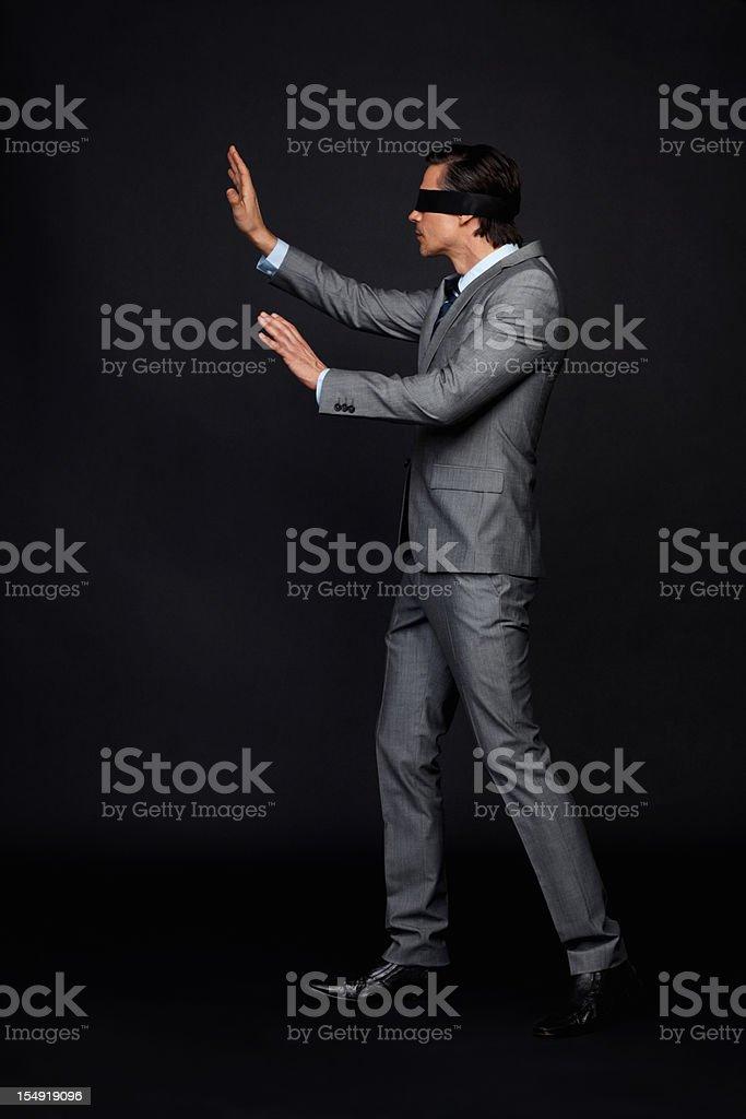 Executive finding his way stock photo