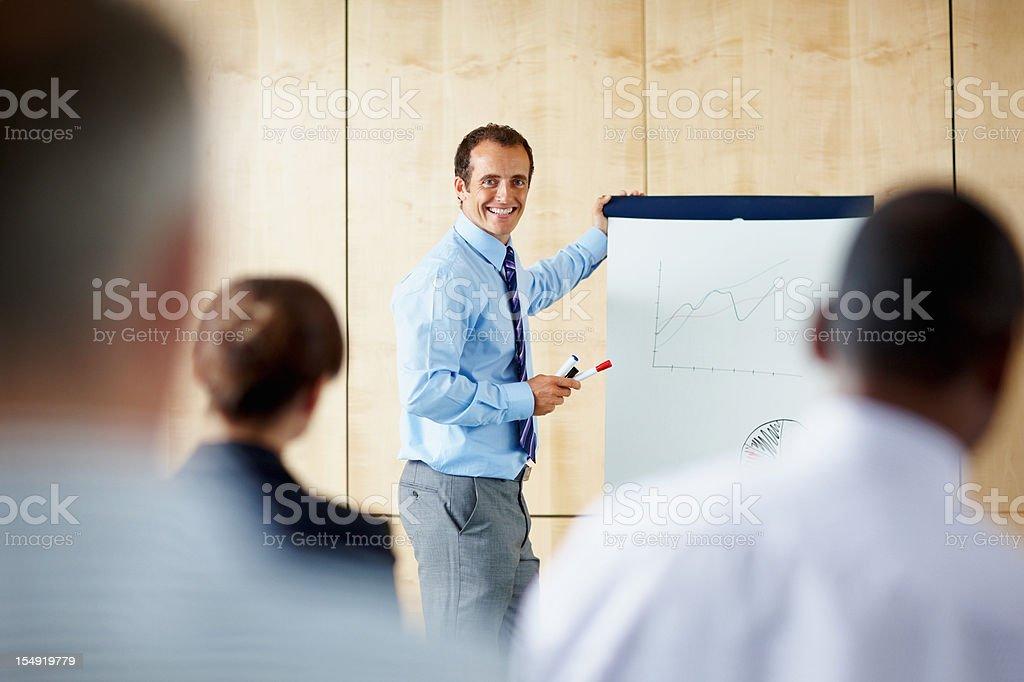 Executive giving presentation royalty-free stock photo