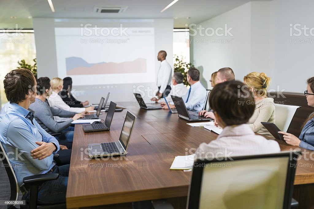 Executive Giving Presentation stock photo