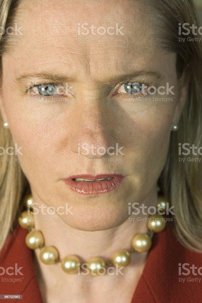 Executive Glare royalty-free stock photo