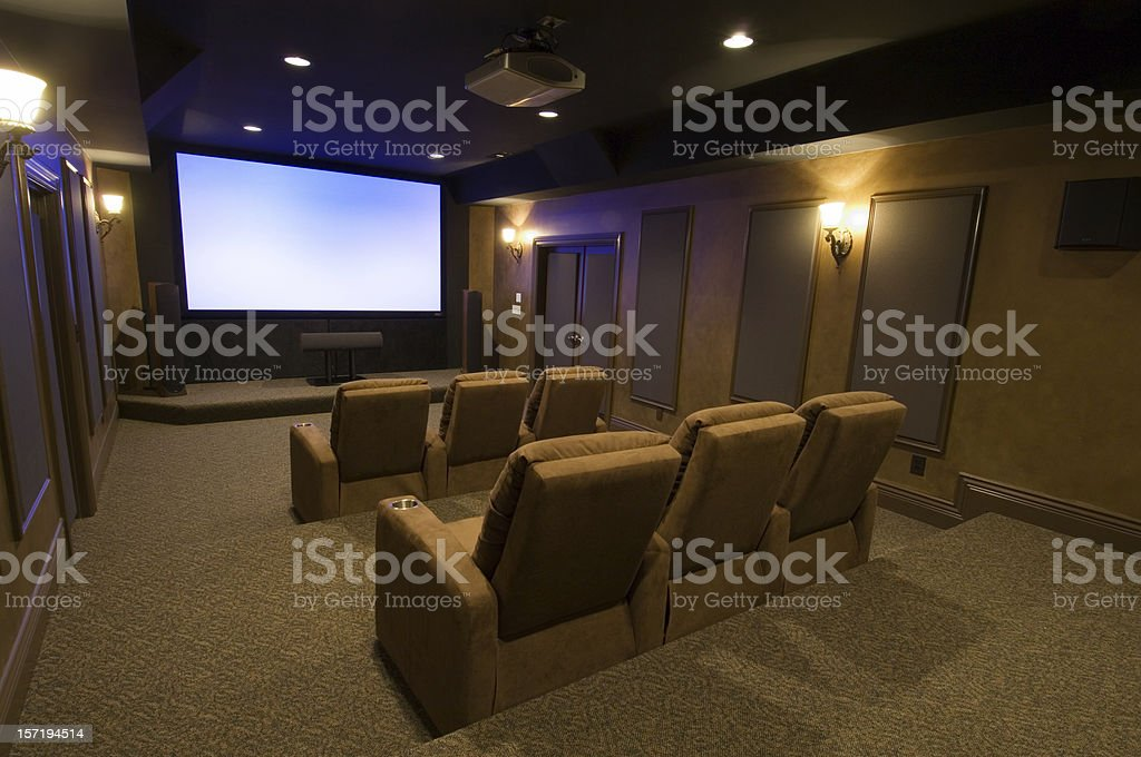 Executive Home Theater stock photo