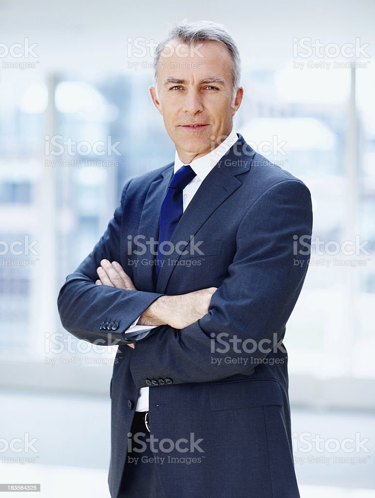 Executive in charge royalty-free stock photo