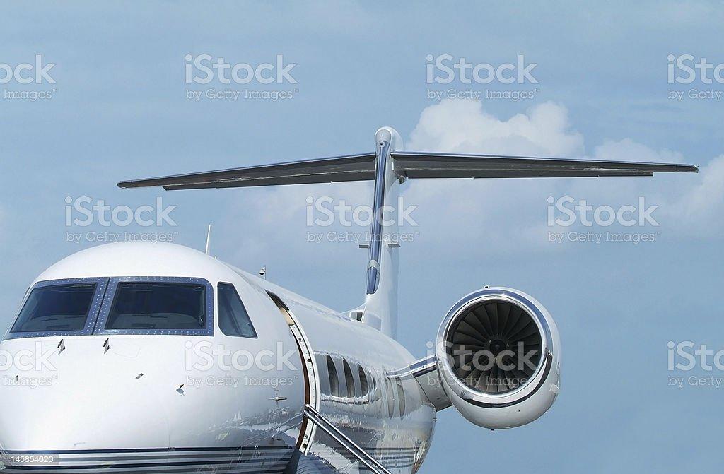Executive jet aircraft royalty-free stock photo