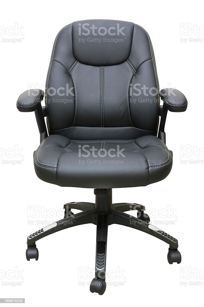 Executive leather chair (Clipping Path!) isolated on white background royalty-free stock photo