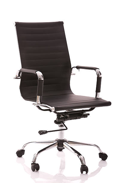 Executive leather chair on white background stock photo