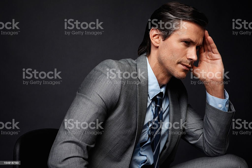 Executive looking fatigued royalty-free stock photo