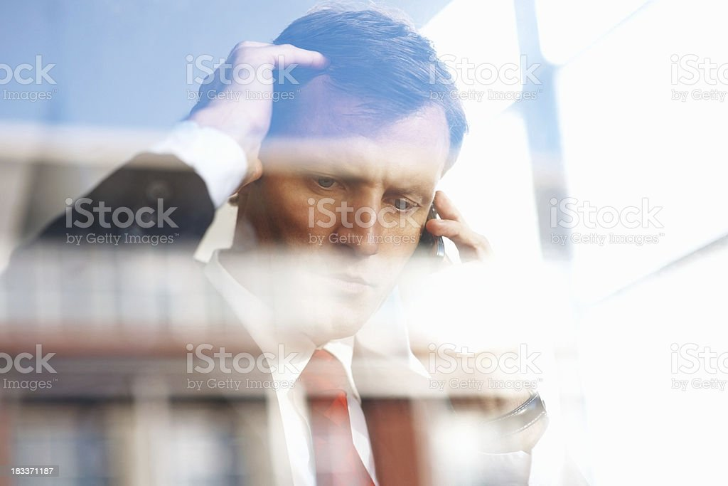 Executive looking worried royalty-free stock photo